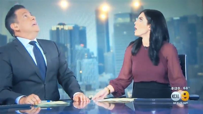 Землетрясение застало американских телеведущих в прямом эфире