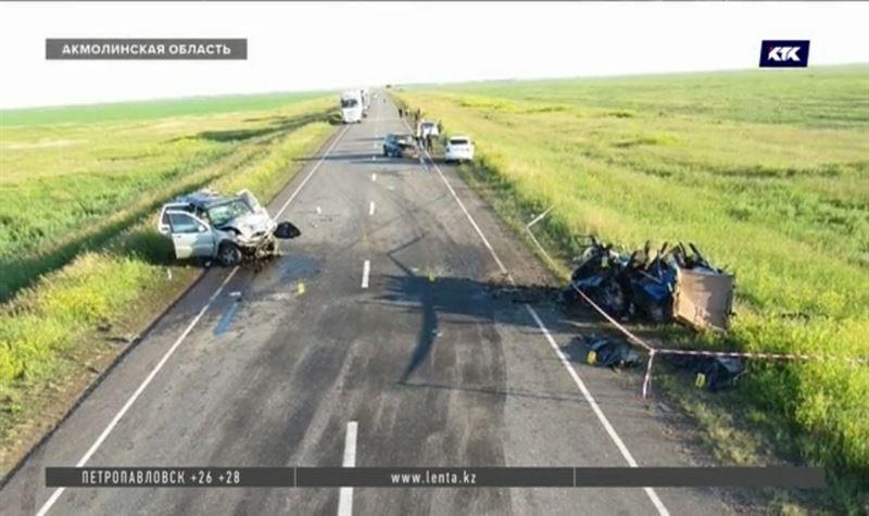 Шестеро погибли, трое в тяжёлом состоянии – последствия ДТП в Акмолинской области