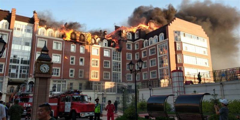 Названа причина крупного пожара в столичном ЖК «Британский квартал»