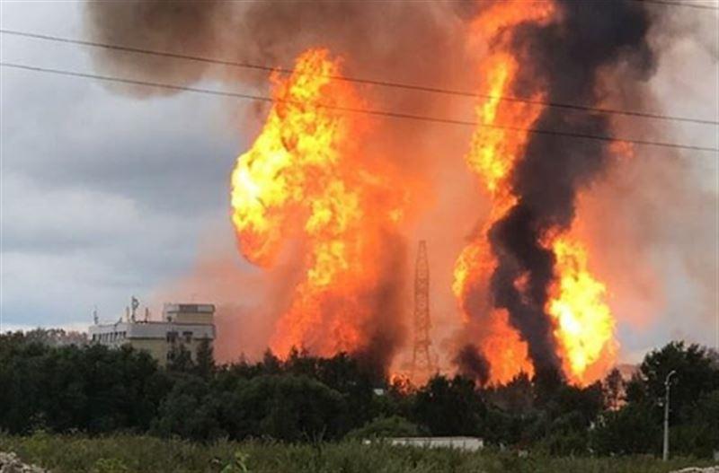 8 человек пострадали в результате крупного пожара на территории ТЭЦ в Мытищах