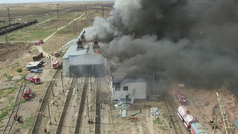 Озвучена предварительная причина возгорания в депо в Арыси