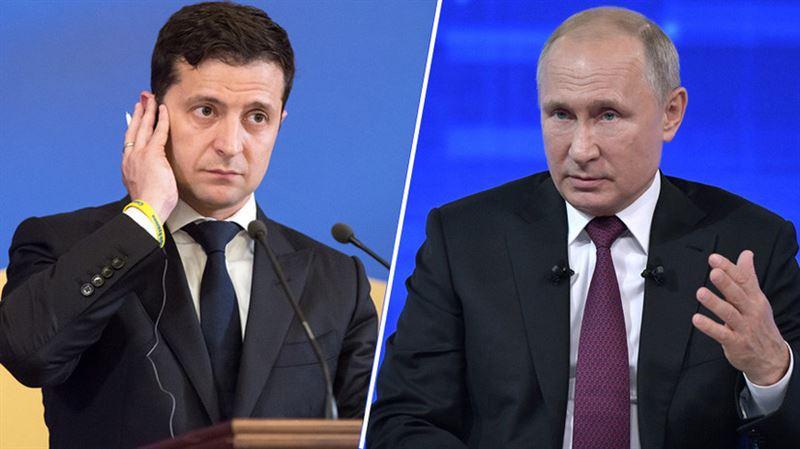 Путин впервые поговорил по телефону с Зеленским