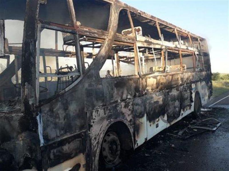 Огнем оказался охвачен рейсовый автобус Семей – Алаколь