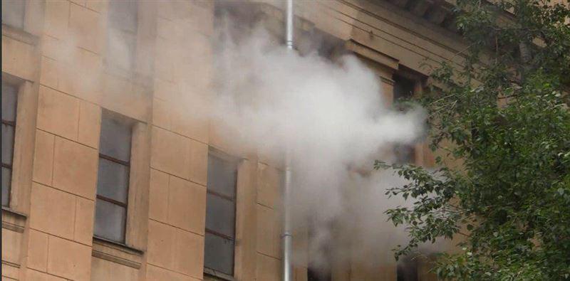 Пожар произошел в Государственном архиве литературы и искусства в Москве