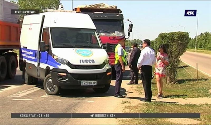 Водитель самосвала сбил сотрудника транспортного контроля