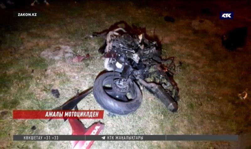 Алматының қақ ортасында мотоцикл жүргізушісі қаза тапты