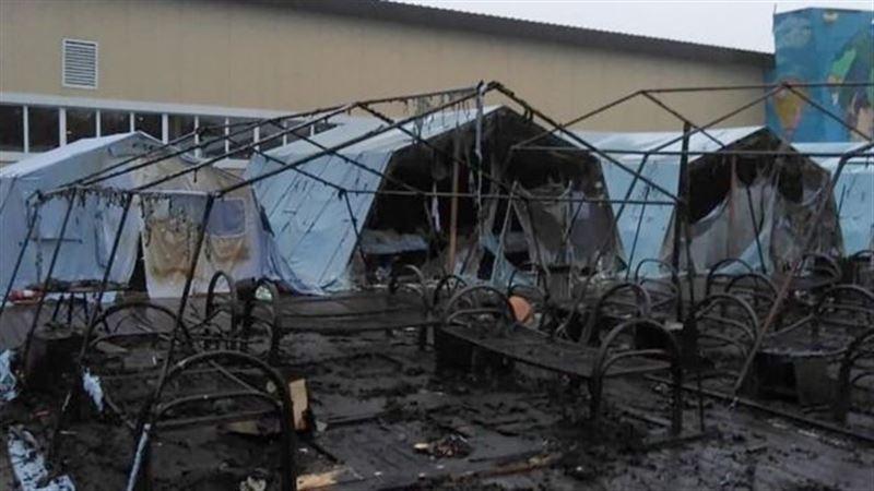 Пожар вспыхнул в детском палаточном лагере