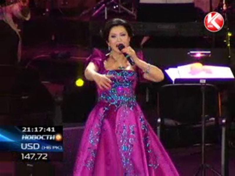 Роза Рымбаева дала свой традиционный весенний концерт