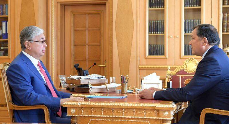 Глава государства принял акима Атырауской области Нурлана Ногаева