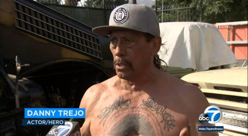 Актёр Трехо помог спасти ребенка из разбившейся машины в США