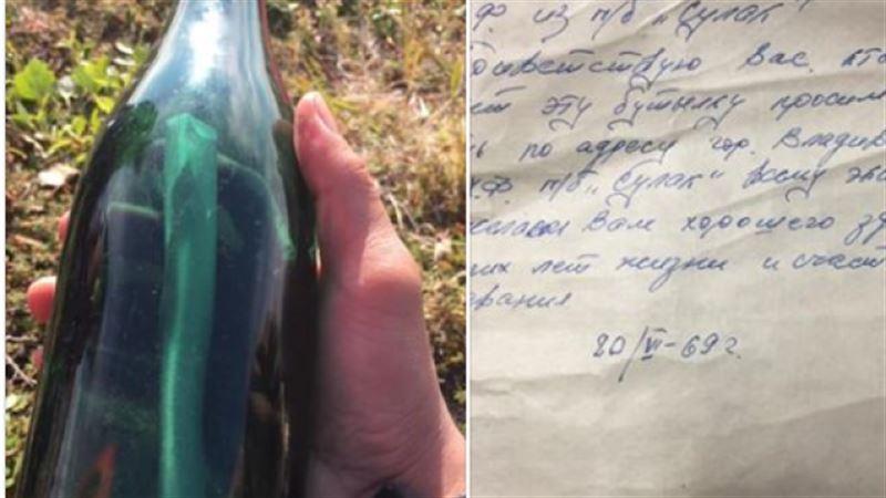 На Аляске в бутылке нашли послание времен СССР