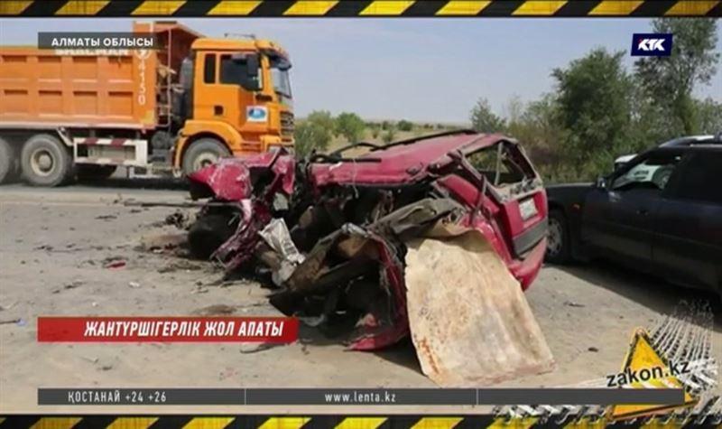 Алматы-Бішкек тас жолында жол апатынан 5 адам қаза тапты. Үшеуі - балалар