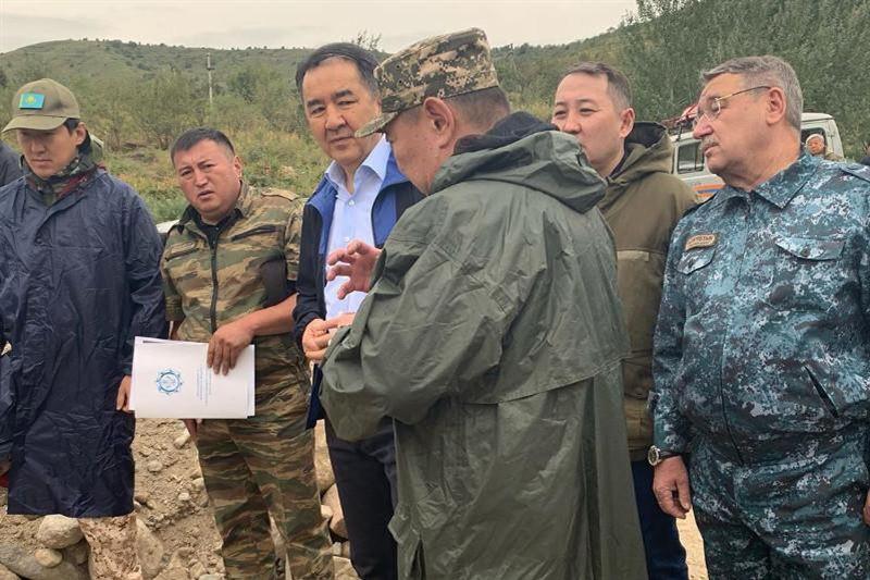 Сагинтаев прибыл на место селевого выброса в Алматы