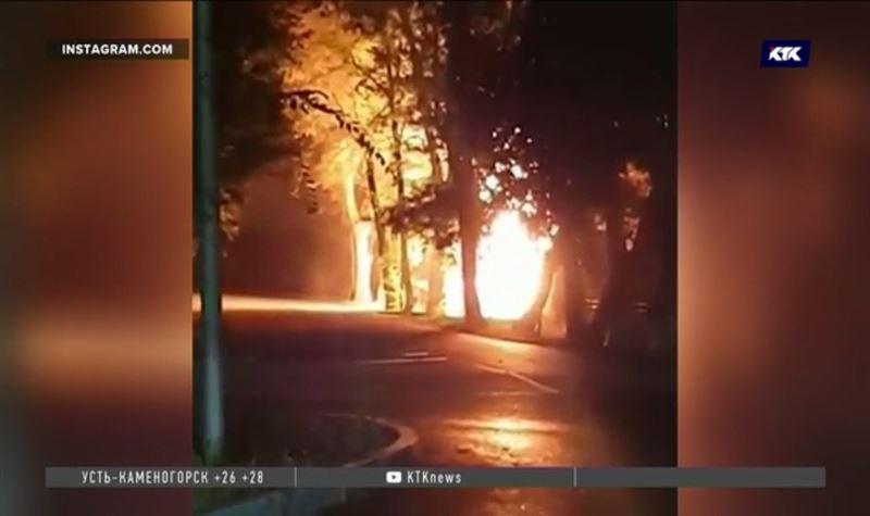 Причиной пожара в Алматы стало ДТП по вине пьяного водителя, снёсшего газопровод