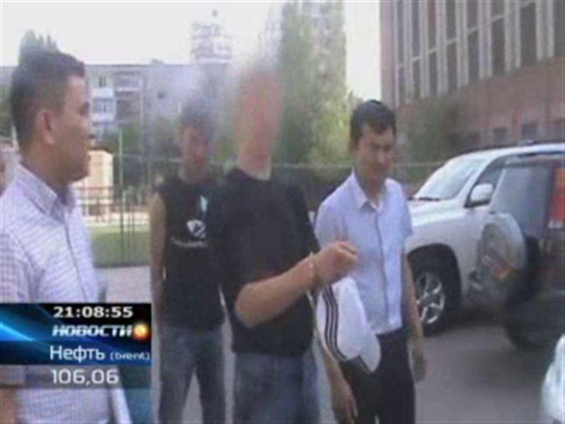 В Астане задержали автомобильного вандала