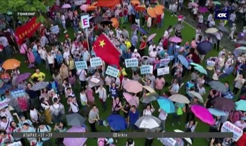 Полиция Гонконга не вмешивалась в очередную акцию протеста