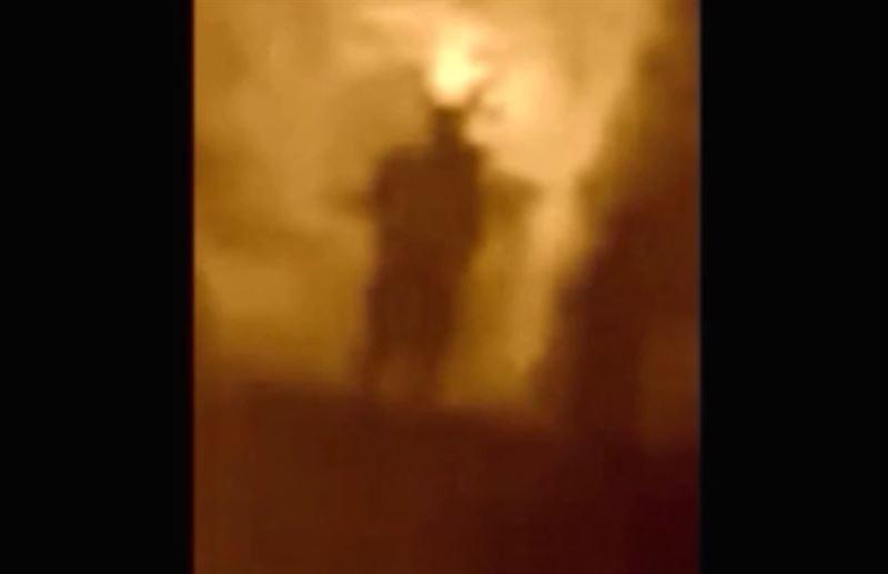 Житель Британии снял на видео легендарного получеловека-полусову