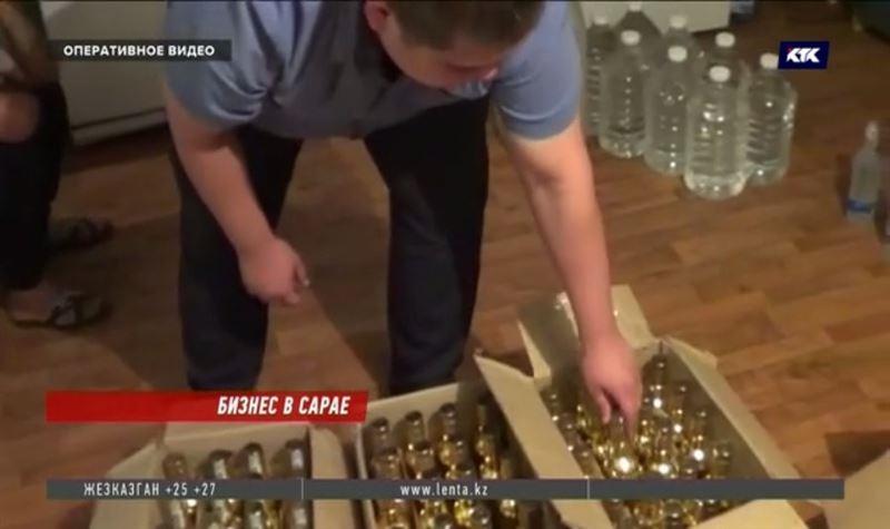 Жаңалықтар - В сарае частного дома на окраине Алматы изготавливали суррогатную водку
