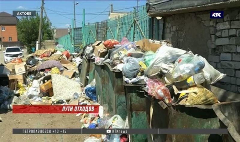 Мусора на улицах Актобе становится всё больше