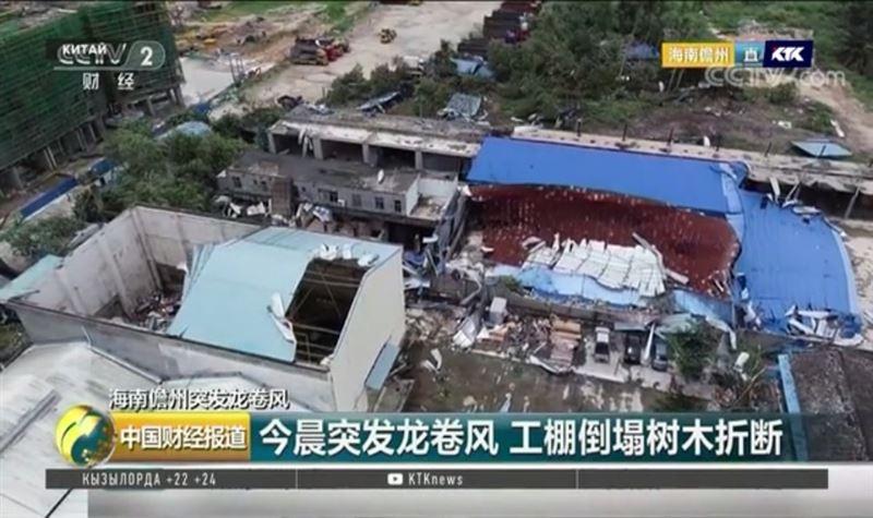 Восемь рабочих стали жертвами торнадо на Хайнане