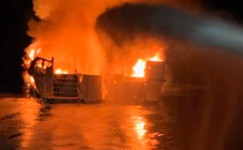 Пожар вспыхнул на круизном лайнере в Калифорнии