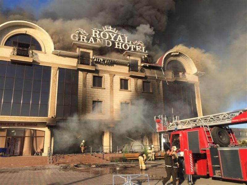 Пожар произошел из-за взрыва автоцистерны в Туркестане