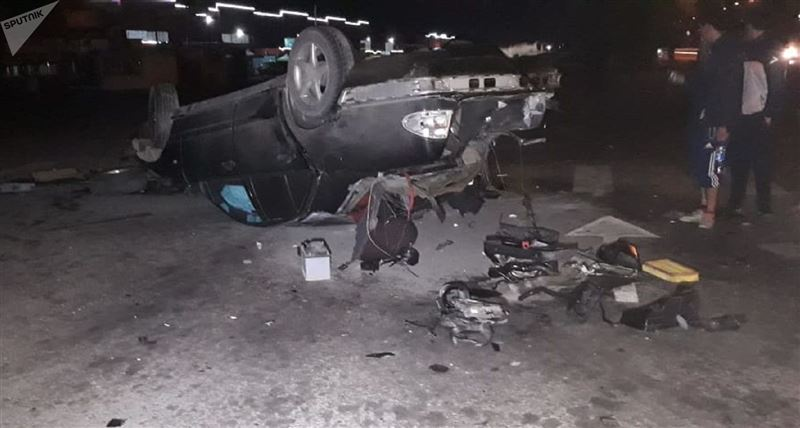 Жуткая авария произошла в Алматы
