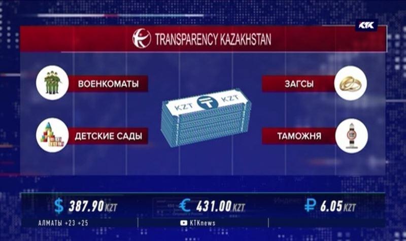 Чаще всего казахстанцы дают взятки в военкоматах, детсадах и ЗАГСах