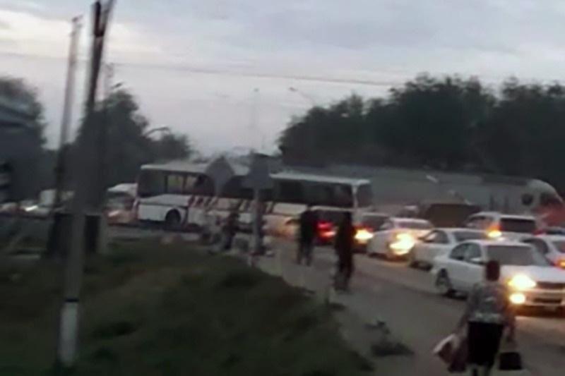 Шамалғанда пойыз бен автобус соқтығысты