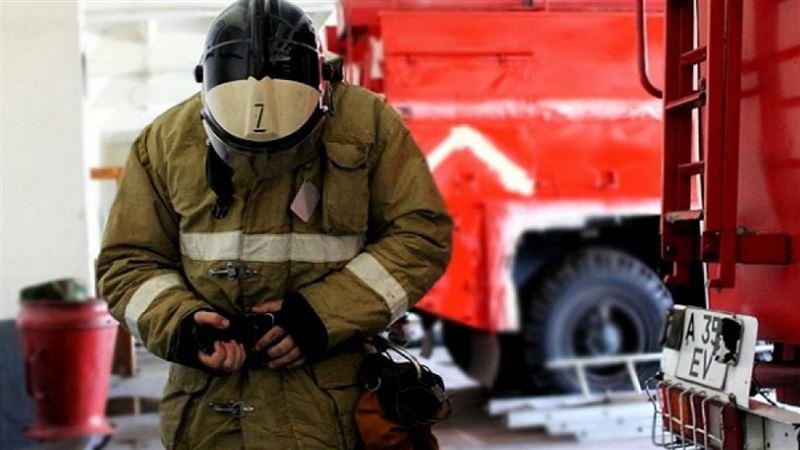 На рынке Алматы вспыхнул пожар
