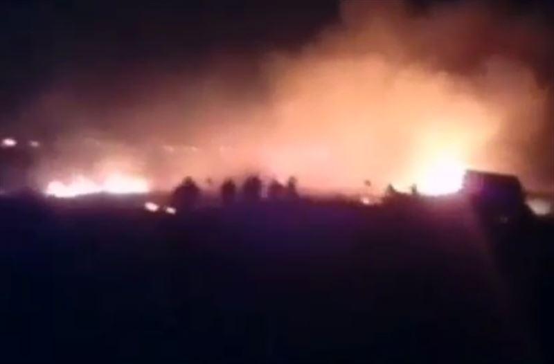 В Баянаульском национальном парке вспыхнул пожар