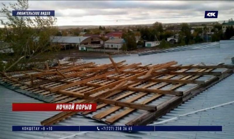 Бушевавший в Акмолинской области ураган нанёс немалый ущерб