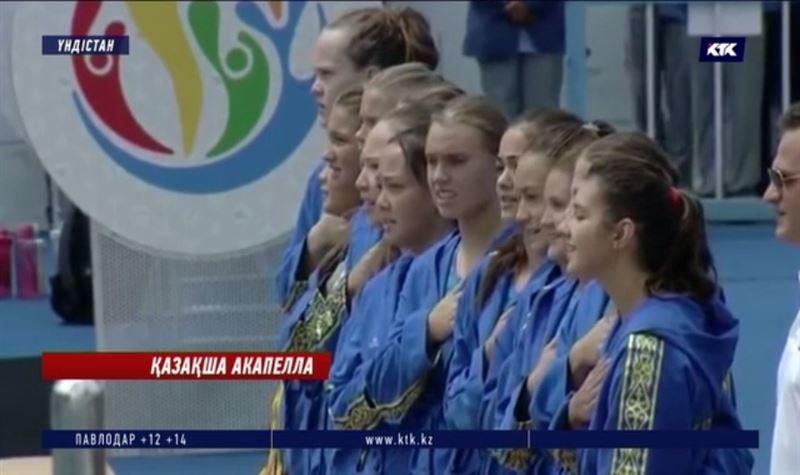 Азия біріншілігінде спортшыларымыз үзілген Әнұранды хормен шырқады