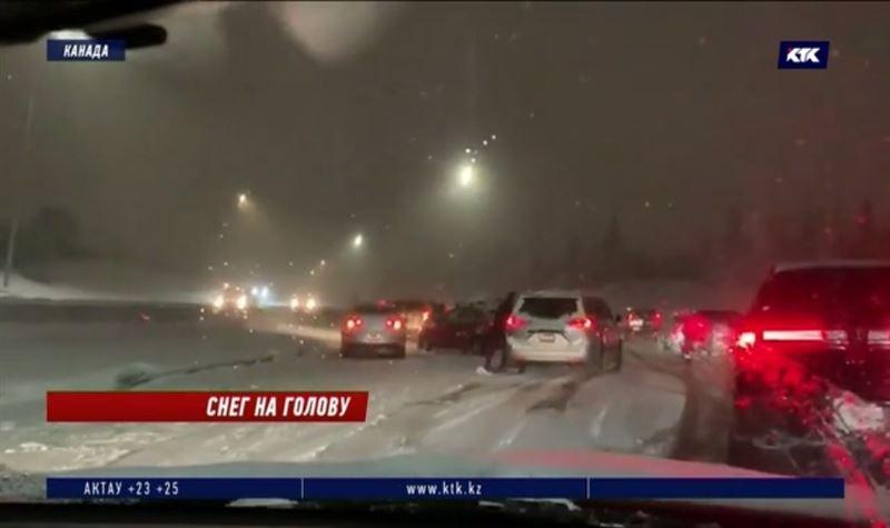 В Калгари произошло более 170 аварий из-за первого снегопада