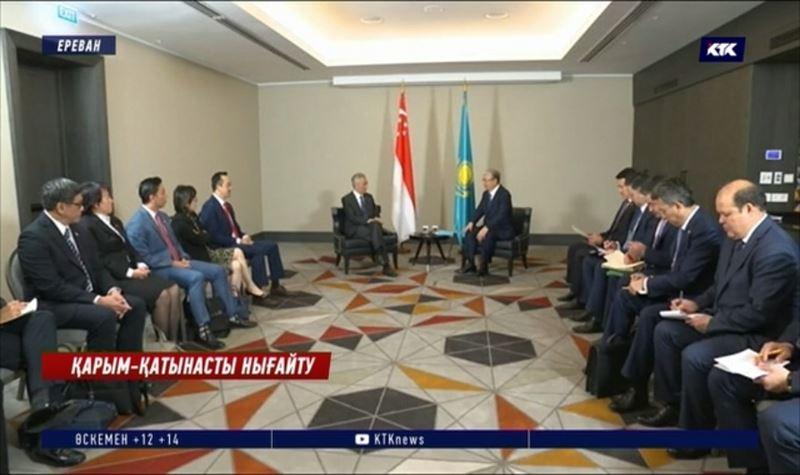 Тоқаев Ереванда Иран президенті, Сингапур және Армения премьер-министрлерімен кездесті
