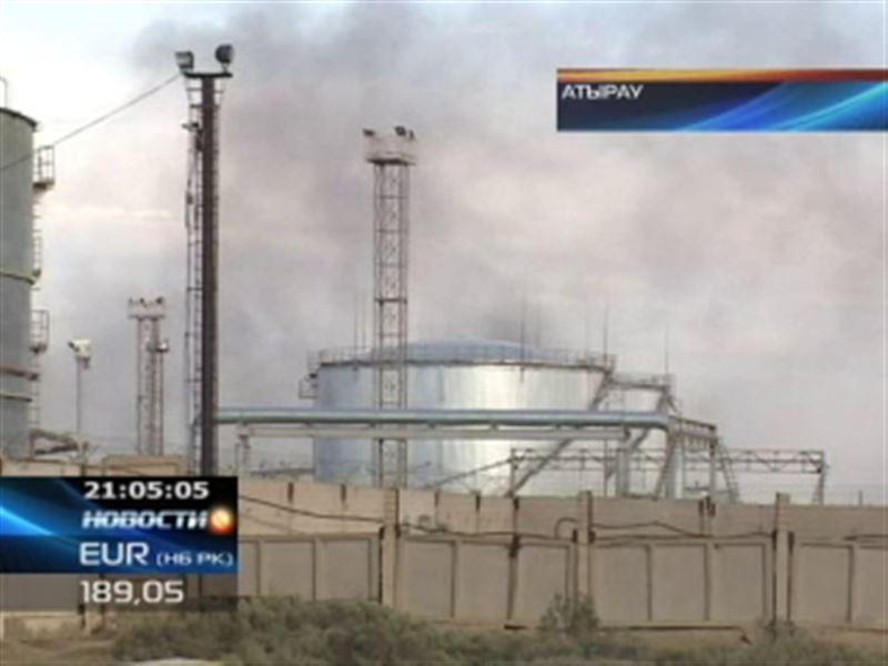 В Атырау горел нефтеперерабатывающий завод