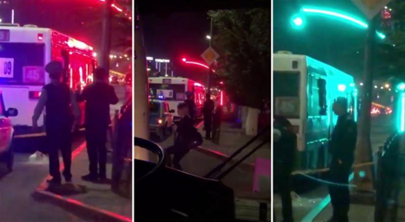 Қарағандыда бұзақылар жолаушылар толы автобусқа оқ жаудырды
