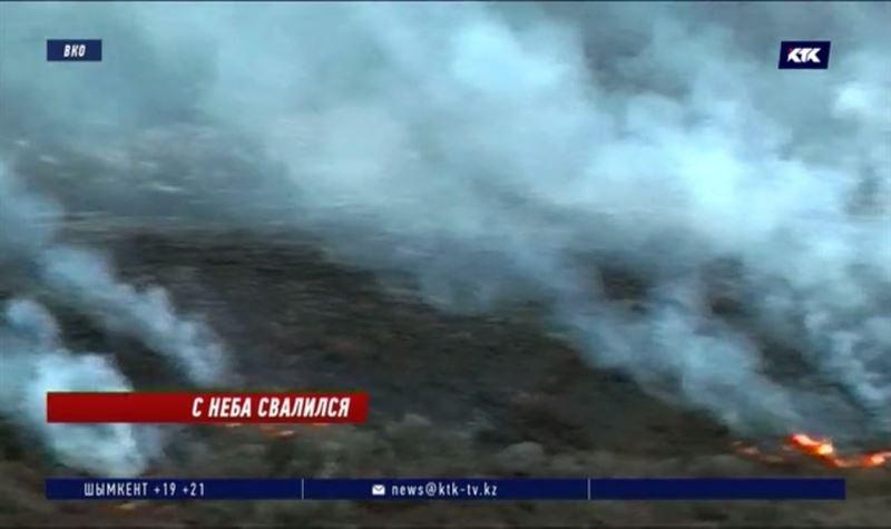 Что-то упавшее с неба могло стать причиной сильного пожара в нацпарке ВКО