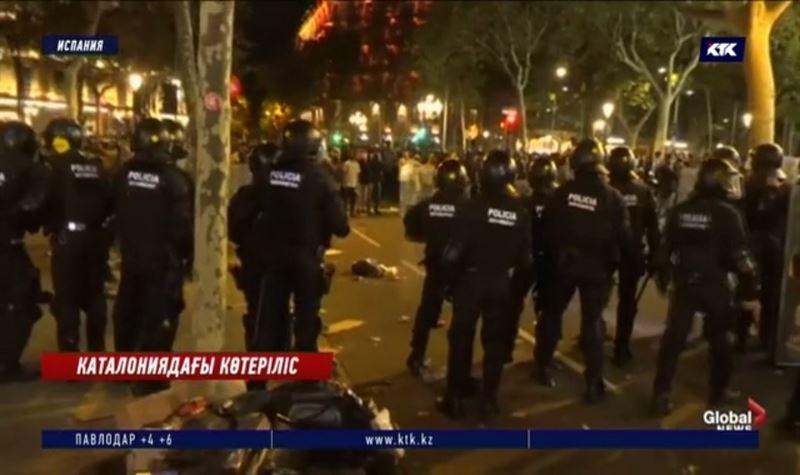 Каталониядағы ереуілде 51 адам қамауға алынды