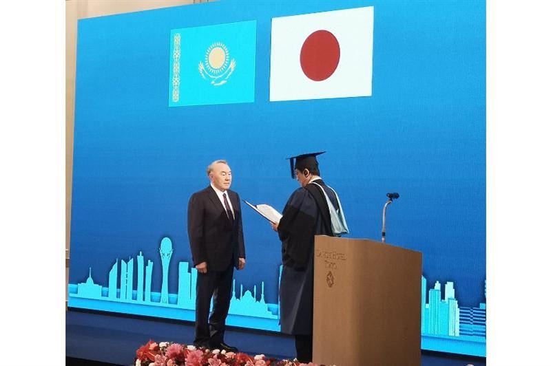 Елбасы присвоили звание почетного доктора университета в Японии
