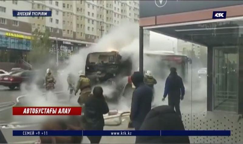 Алматы мен Нұр-Сұлтанда бір күнде екі автобус өртенді