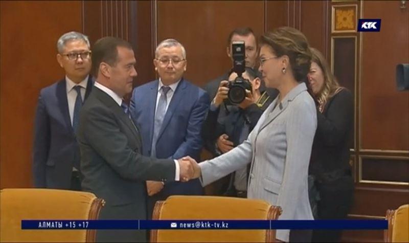 Дарига Назарбаева встретилась с Дмитрием Медведевым и патриархом Кириллом