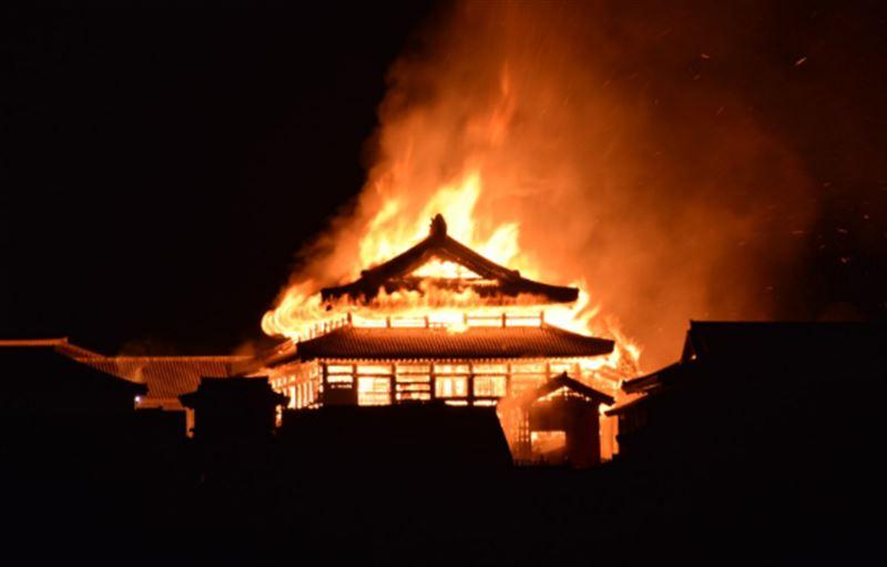 Возгорание произошло в японском замке из списка наследия ЮНЕСКО