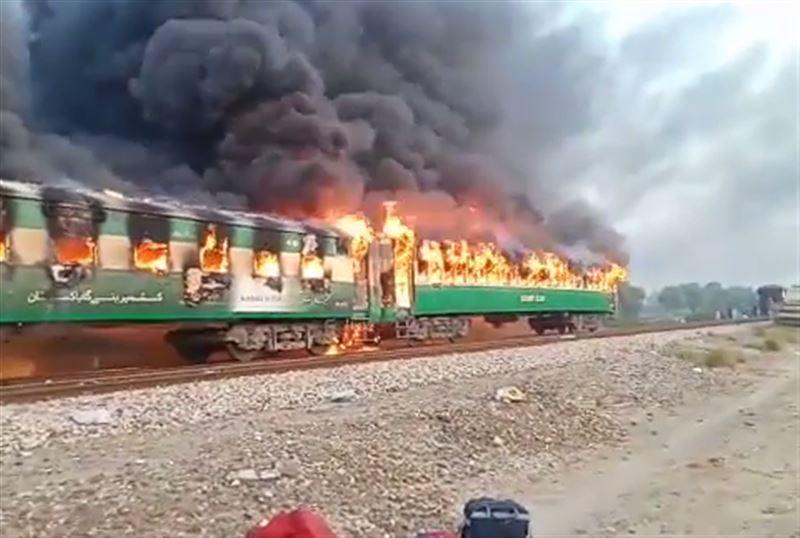 Десятки человек погибли в результате пожара в поезде