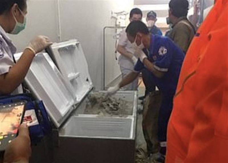 Тело тайской миллионерши было залито бетоном в холодильнике