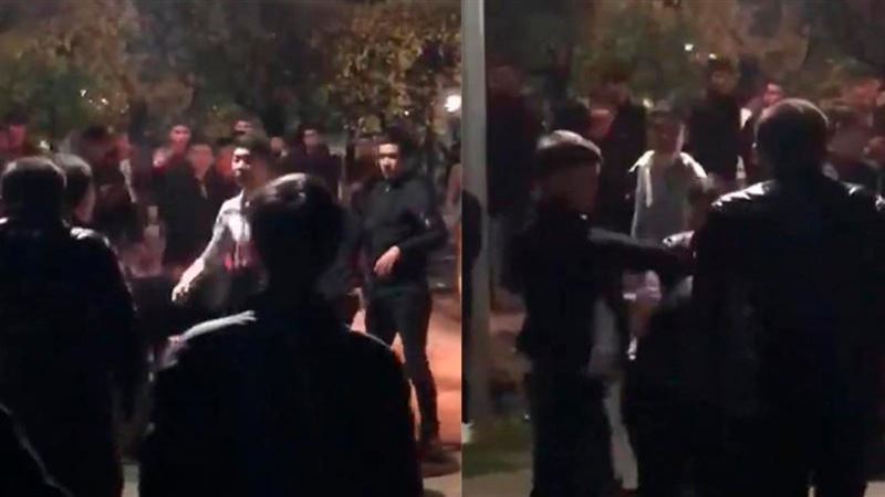 Массовую потасовку устроили в Алматы