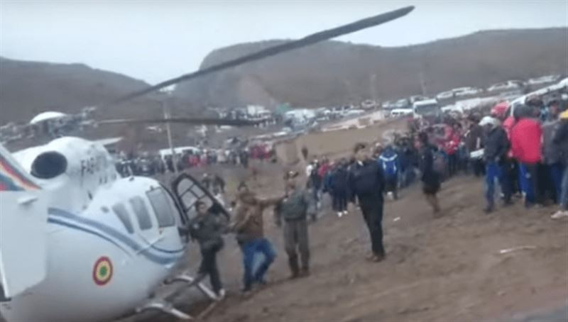 Президент Боливии едва не разбился на вертолете