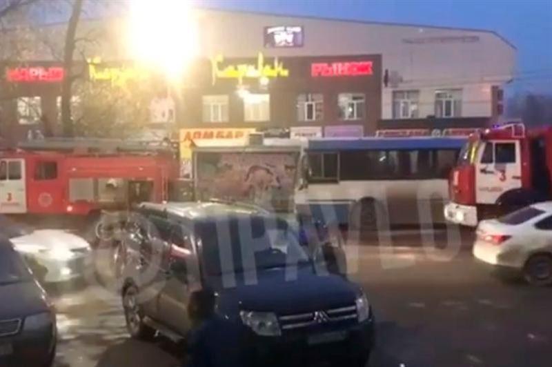 Павлодарда жолаушылар автобусы өртенді