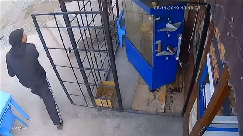 Ограбление за 13 секунд попало на видео