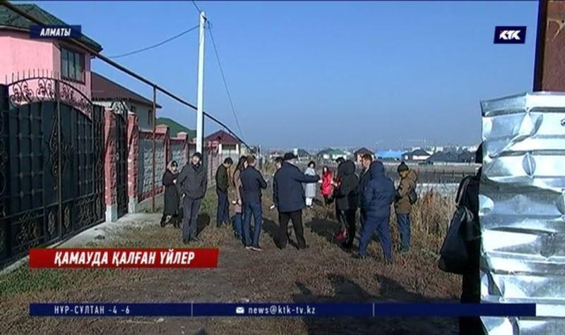 Алматының Наурызбай ауданындағы 10 үй қоршауда қалды